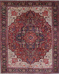 Palace Size Vegetable Dye Heriz Persian Hand-Knotted 12x14 Wool Rug