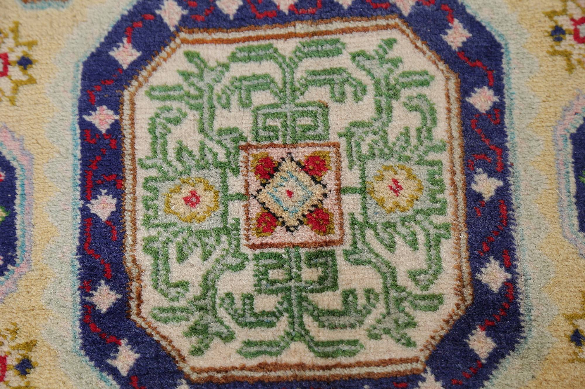 Geometric Ardebil Persian Hand-Knotted 10x12 Wool Area Rug