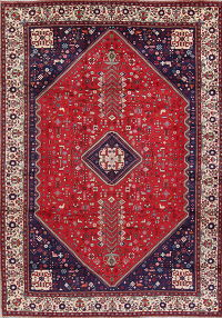 Tribal Geometric Abadeh Nafar Persian 8x12 Wool Area Rug