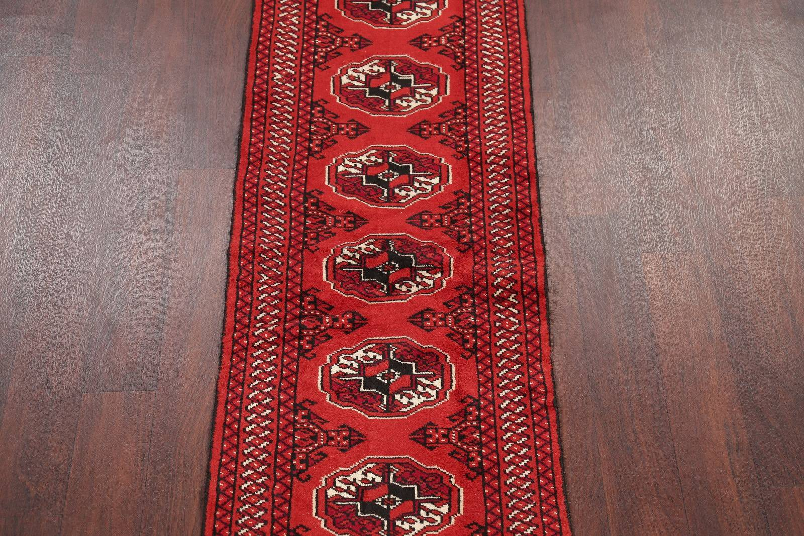 Red Balouch bokhara Persian Hand-Knotted 2x6 Wool Runner Rug