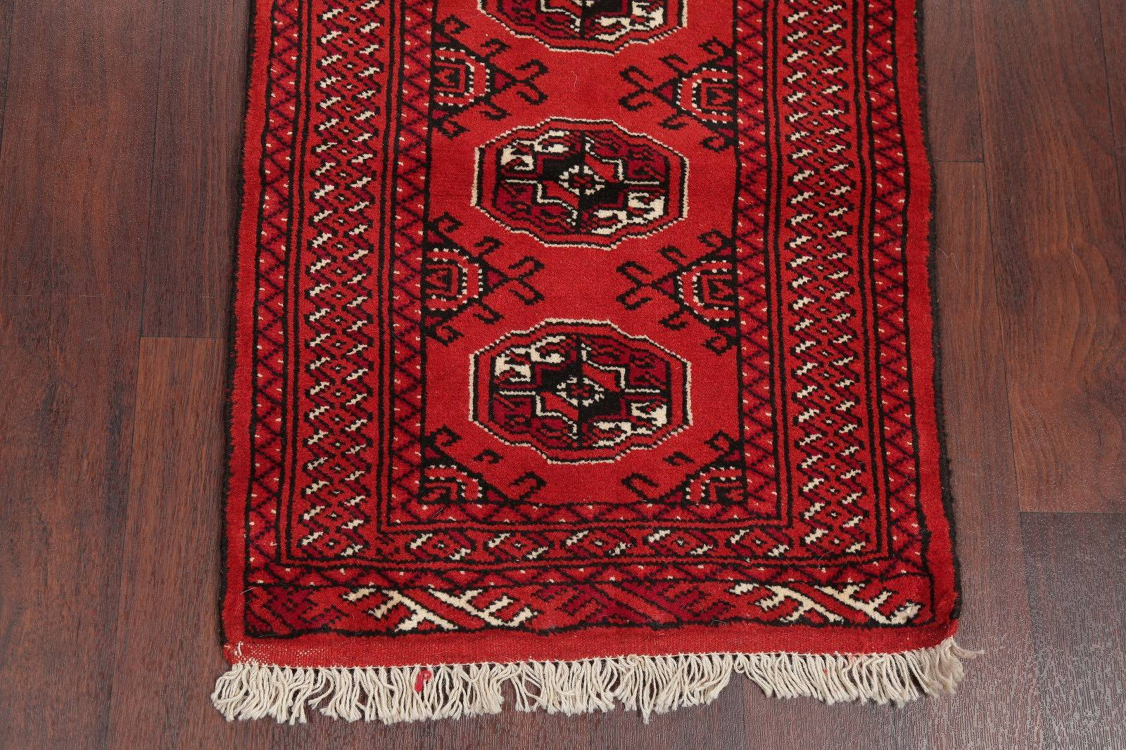 Balouch Bokhara Persian Hand-Knotted 2x6 Wool Runner Rug