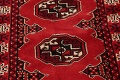 Red Geometric Balouch Persian Hand-Knotted 2x6 Wool Runner Rug image 4
