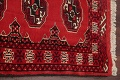 Red Geometric Balouch Persian Hand-Knotted 2x6 Wool Runner Rug image 10