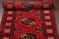 Red Geometric Balouch Persian Hand-Knotted 2x6 Wool Runner Rug image 14