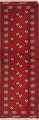 Red Geometric Balouch Persian Hand-Knotted 2x6 Wool Runner Rug image 1