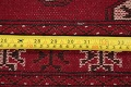 Red Geometric Balouch Persian Hand-Knotted 2x6 Wool Runner Rug image 17