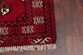 Red Geometric Balouch Persian Hand-Knotted 2x6 Wool Runner Rug image 6