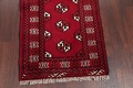 Red Geometric Balouch Persian Hand-Knotted 2x6 Wool Runner Rug image 5