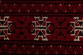 Red Geometric Balouch Persian Hand-Knotted 2x6 Wool Runner Rug image 7