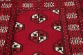 Red Geometric Balouch Persian Hand-Knotted 2x6 Wool Runner Rug image 9