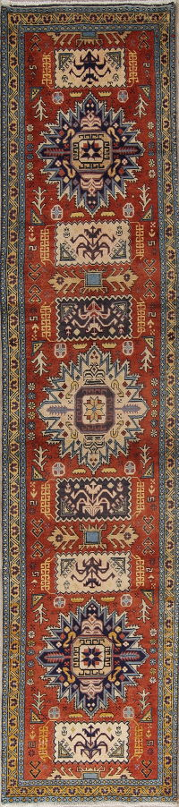 Geometric Ardebil Persian 2x10 Wool Runner Rug