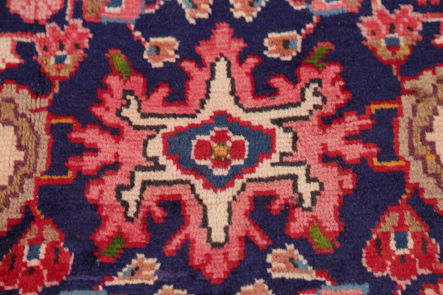 Geometric Sultanabad Persian Hand-Knotted 4x11 Wool Runner Rug image 9