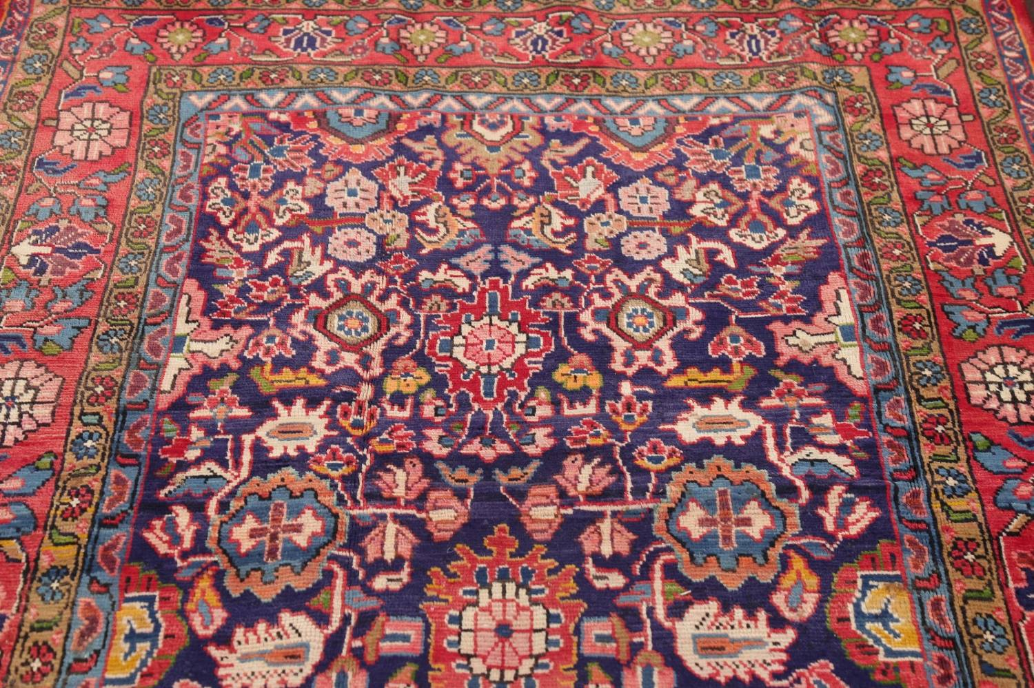 Geometric Sultanabad Persian Hand-Knotted 4x11 Wool Runner Rug image 12