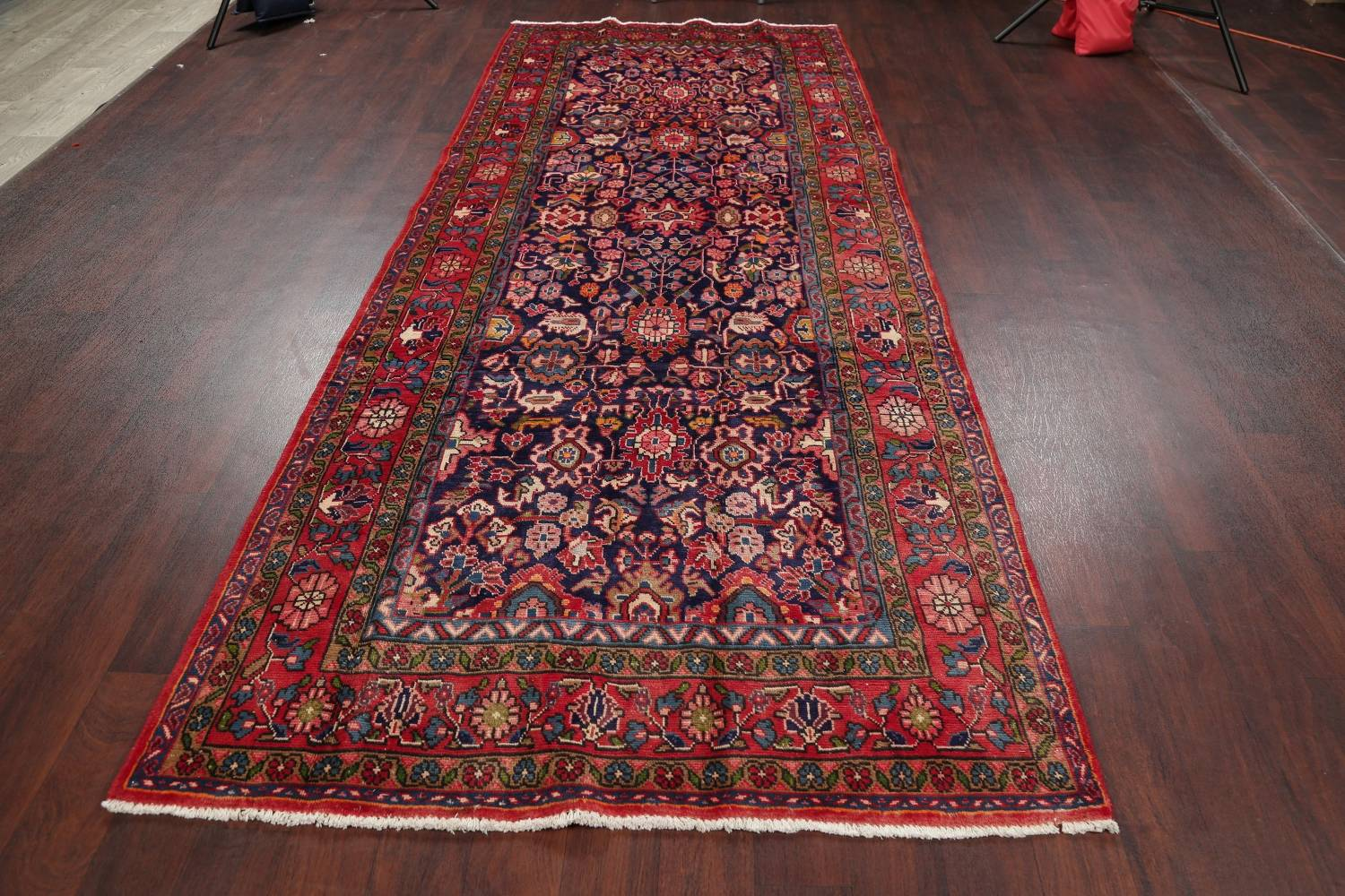 Geometric Sultanabad Persian Hand-Knotted 4x11 Wool Runner Rug image 15