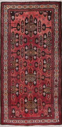 Geometric Balouch Afghan Oriental Hand-Knotted 4x7 Wool Area Rug