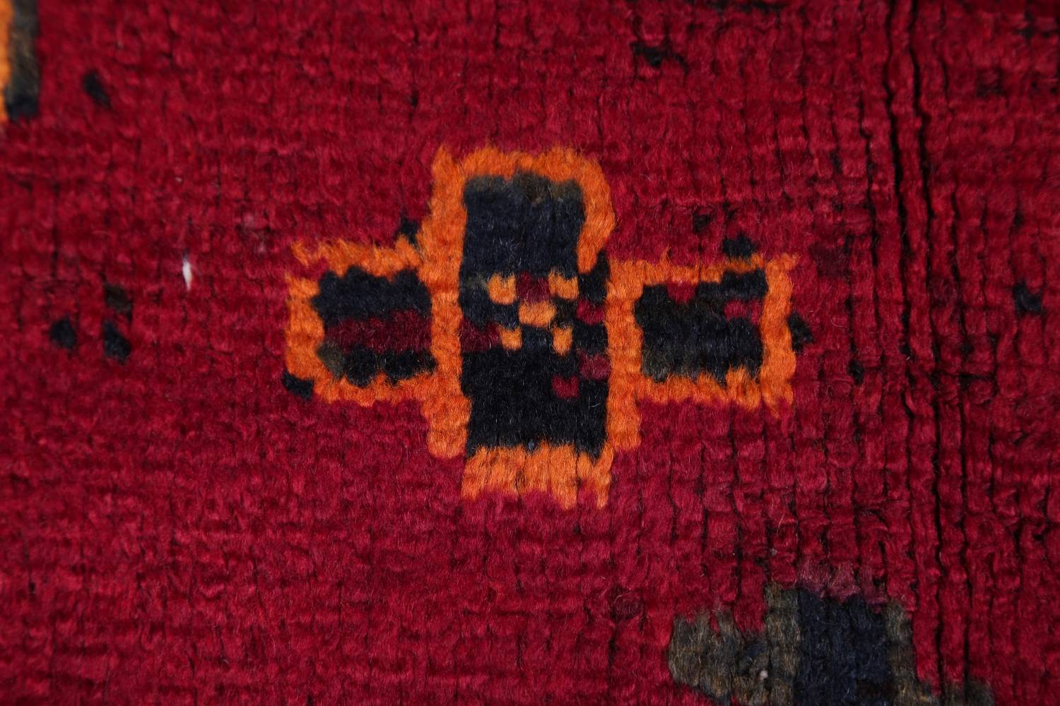 Antique Geometric Lori Persian Hand-Knotted 4x13 Wool Runner Rug image 8