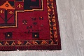 Antique Geometric Lori Persian Hand-Knotted 4x13 Wool Runner Rug image 6