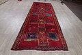 Antique Geometric Lori Persian Hand-Knotted 4x13 Wool Runner Rug image 16