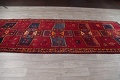 Antique Geometric Lori Persian Hand-Knotted 4x13 Wool Runner Rug image 15