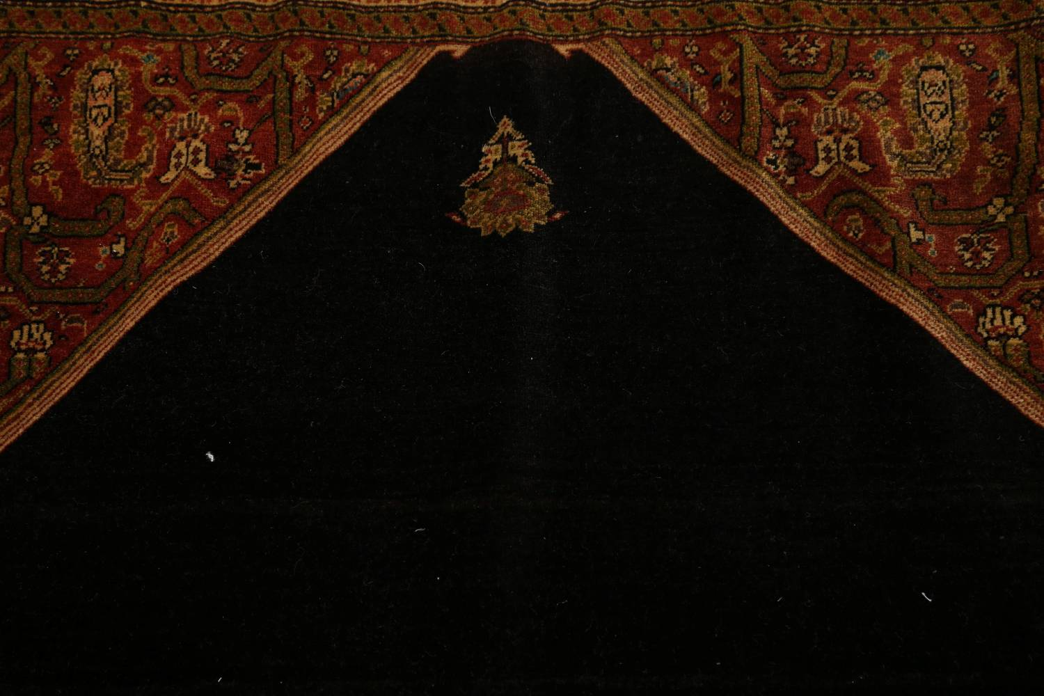 Pre-1900 Vegetable Dye Sarouk Farahan Persian Hand-Knotted 3x3 Square Rug image 13
