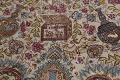 Antique Vegetable Dye Tabriz Persian Hand-Knotted 8x8 Wool Silk Round Rug image 10