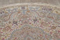 Antique Vegetable Dye Tabriz Persian Hand-Knotted 8x8 Wool Silk Round Rug image 13