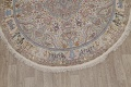 Antique Vegetable Dye Tabriz Persian Hand-Knotted 8x8 Wool Silk Round Rug image 5