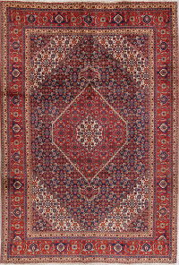 Geometric Tabriz Persian Hand-Knotted 7x10 Wool Area Rug