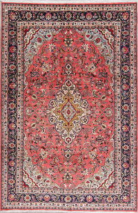 Traditional Floral Malayer Persian Hand-Knotted 7x10 Wool Area Rug