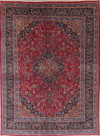 Traditional Floral Kashmar Persian Hand-Knotted 8x11 Wool Area Rug
