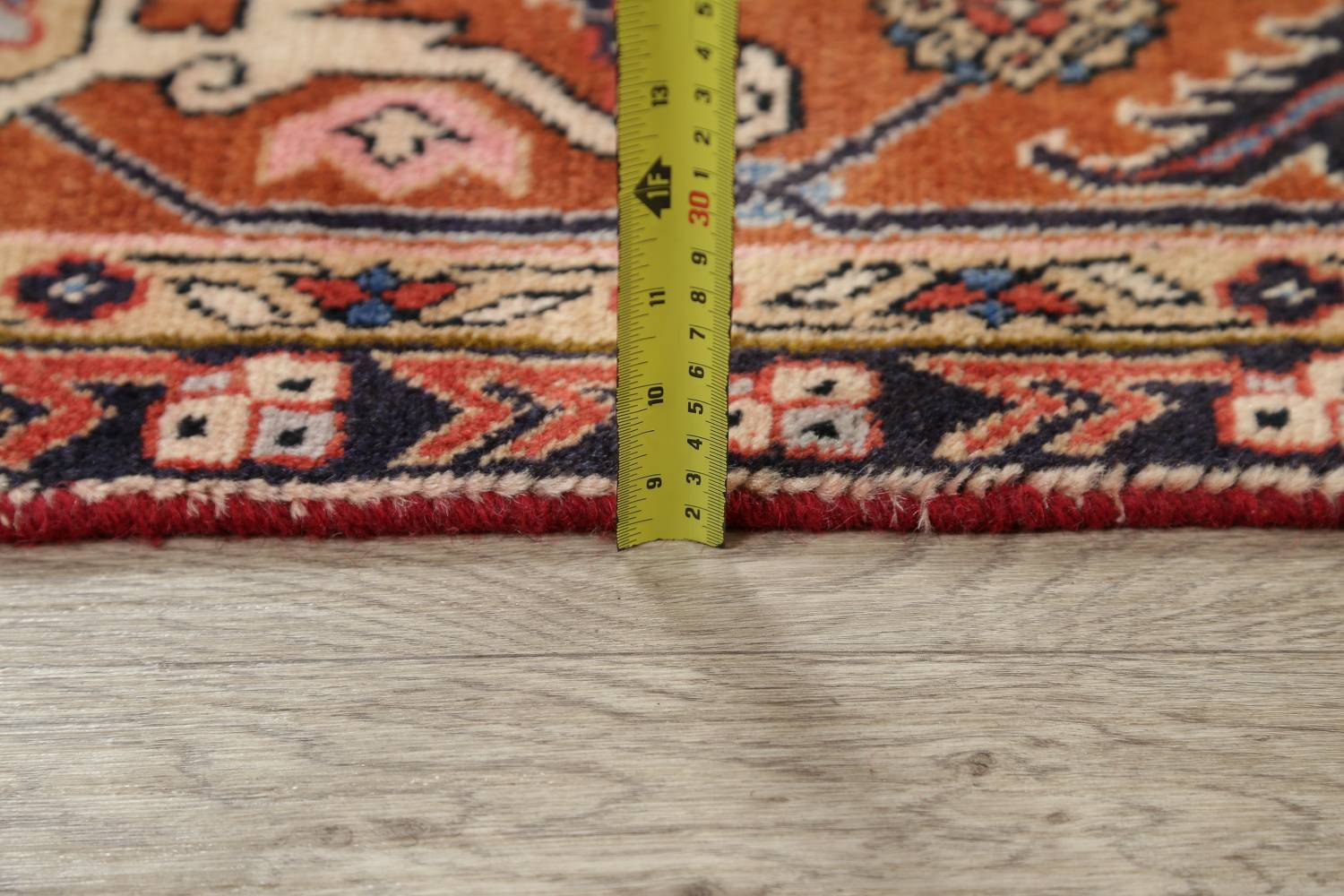 Geometric Red Ardebil Persian Hand-Knotted 6x10 Wool Area Rug image 18