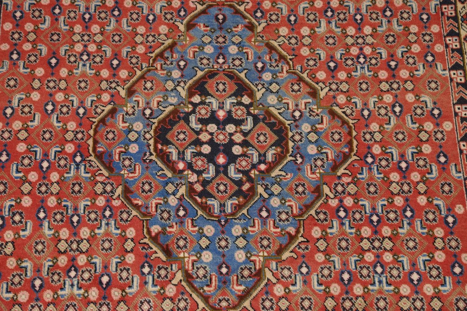 Geometric Red Ardebil Persian Hand-Knotted 6x10 Wool Area Rug image 4