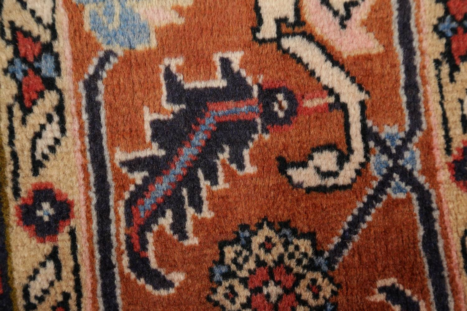 Geometric Red Ardebil Persian Hand-Knotted 6x10 Wool Area Rug image 8