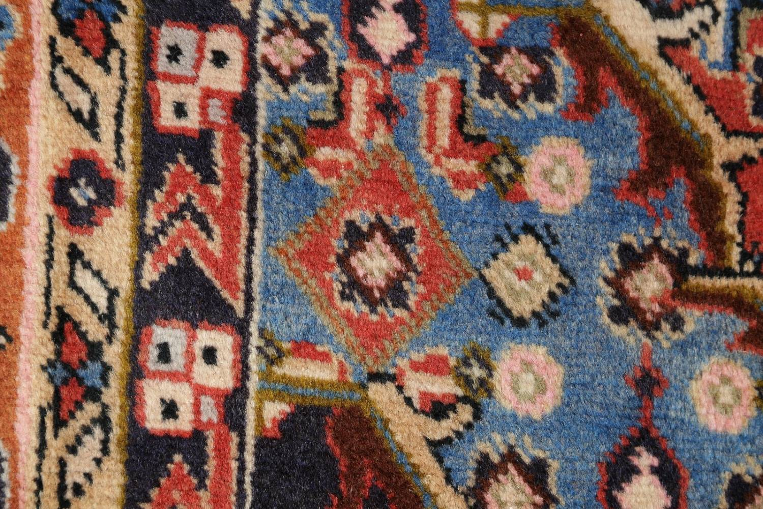 Geometric Red Ardebil Persian Hand-Knotted 6x10 Wool Area Rug image 9