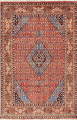 Geometric Red Ardebil Persian Hand-Knotted 6x10 Wool Area Rug image 1