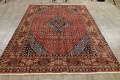 Geometric Red Ardebil Persian Hand-Knotted 6x10 Wool Area Rug image 14