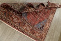 Geometric Red Ardebil Persian Hand-Knotted 6x10 Wool Area Rug image 15