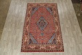 Geometric Red Ardebil Persian Hand-Knotted 6x10 Wool Area Rug image 2