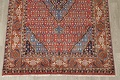 Geometric Red Ardebil Persian Hand-Knotted 6x10 Wool Area Rug image 5