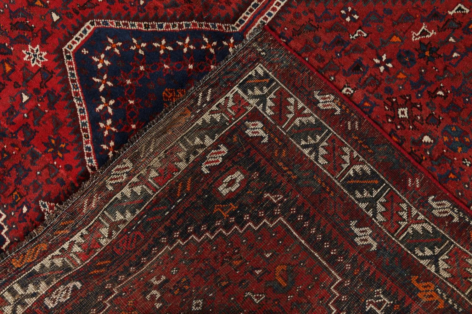 Antique Tribal Qashqai Persian Hand-Knotted 7x10 Wool Area Rug image 20