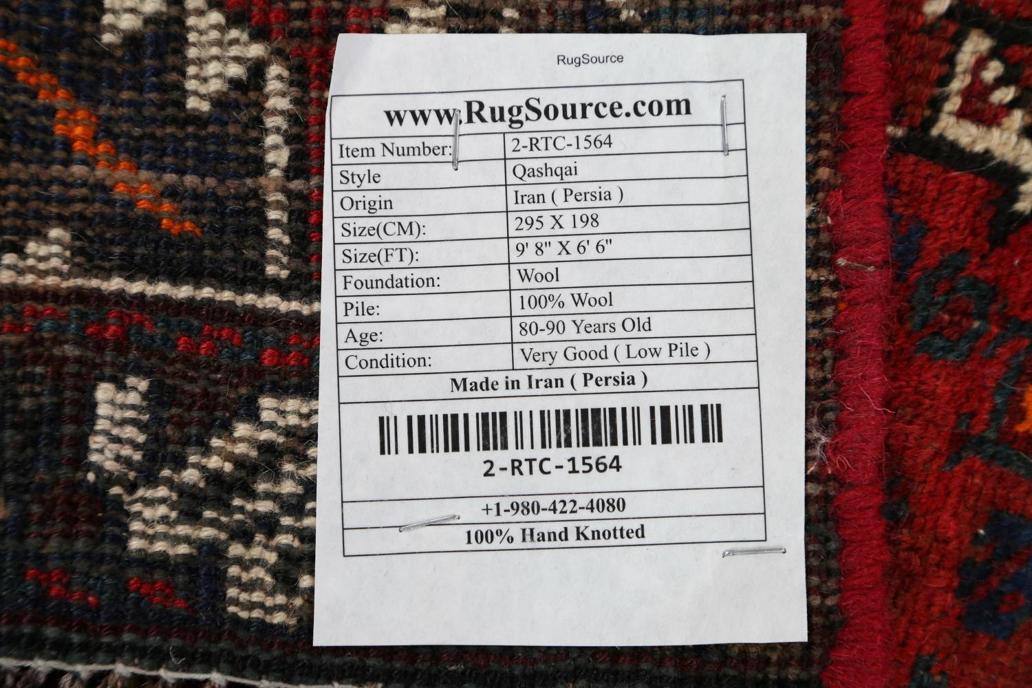 Antique Tribal Qashqai Persian Hand-Knotted 7x10 Wool Area Rug image 22