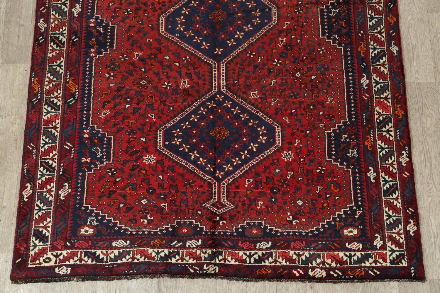 Antique Tribal Qashqai Persian Hand-Knotted 7x10 Wool Area Rug image 5