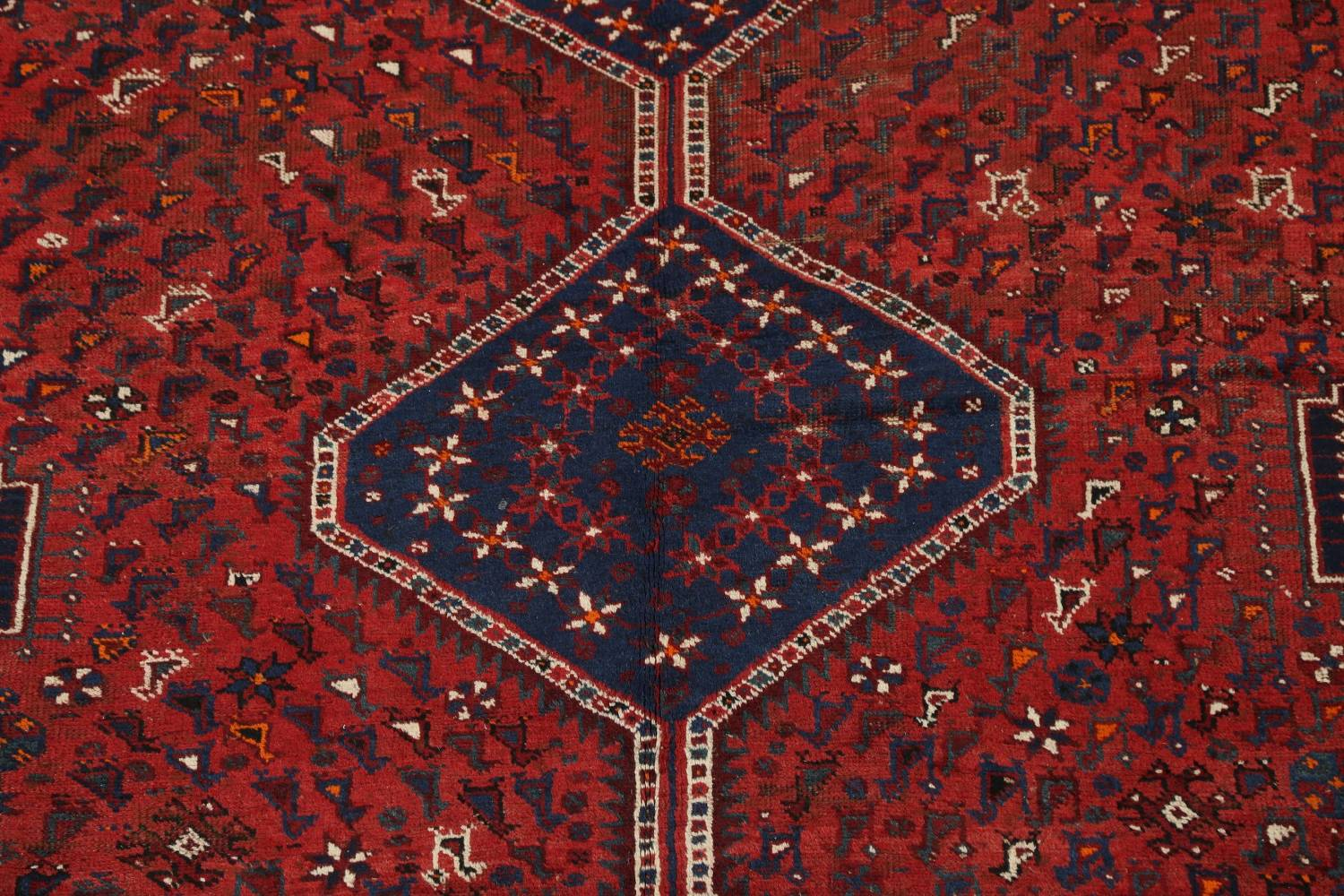 Antique Tribal Qashqai Persian Hand-Knotted 7x10 Wool Area Rug image 4
