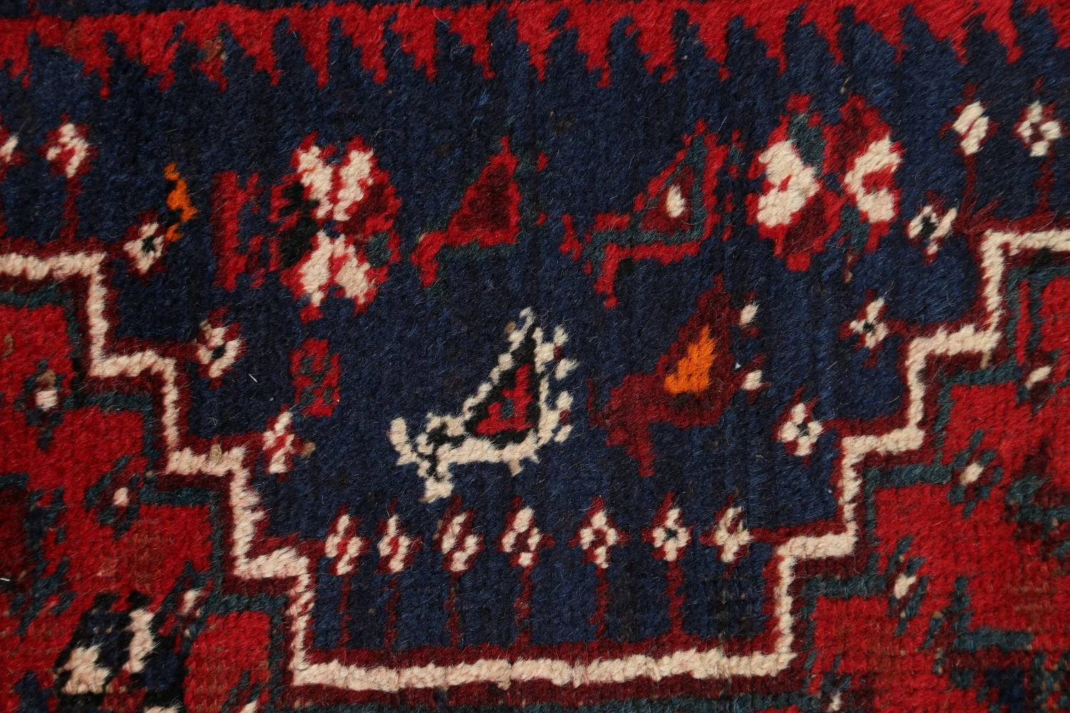 Antique Tribal Qashqai Persian Hand-Knotted 7x10 Wool Area Rug image 8