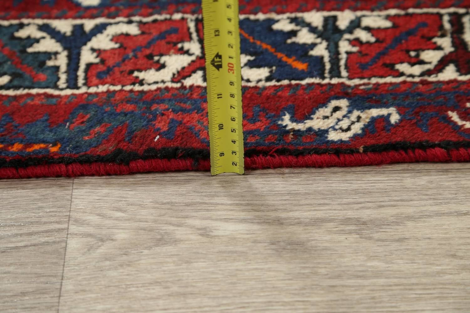 Antique Tribal Qashqai Persian Hand-Knotted 7x10 Wool Area Rug image 19