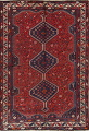 Antique Tribal Qashqai Persian Hand-Knotted 7x10 Wool Area Rug image 1