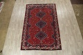 Antique Tribal Qashqai Persian Hand-Knotted 7x10 Wool Area Rug image 2
