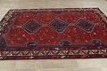 Antique Tribal Qashqai Persian Hand-Knotted 7x10 Wool Area Rug image 14