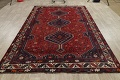 Antique Tribal Qashqai Persian Hand-Knotted 7x10 Wool Area Rug image 15