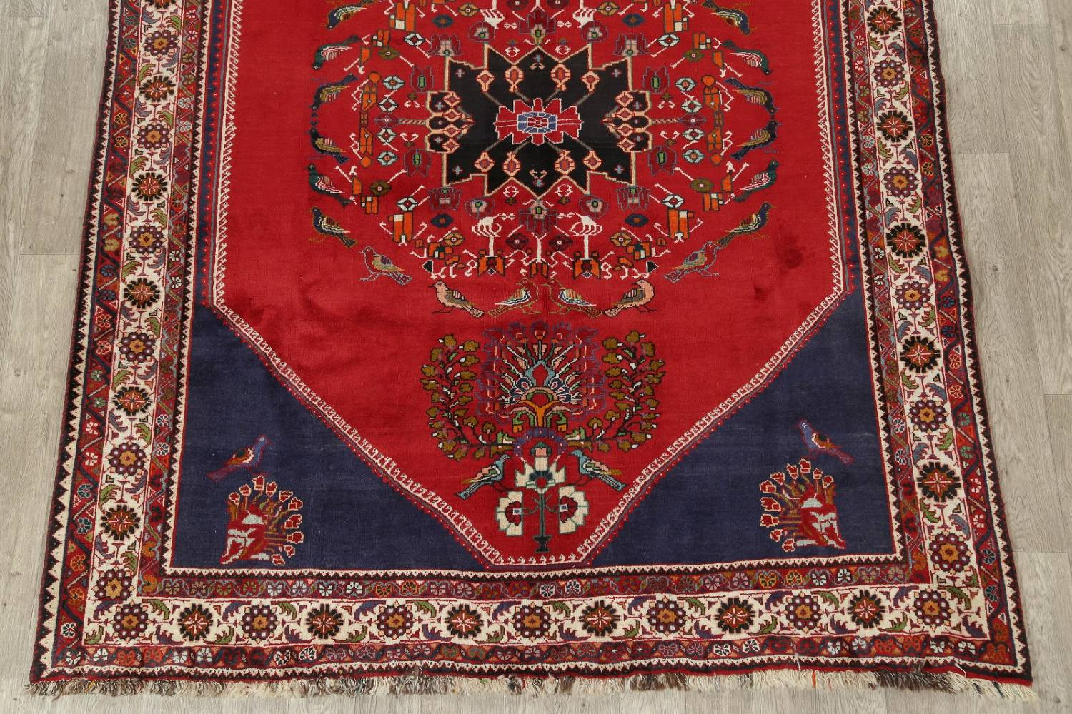 Animal Pictorial Kashkoli Persian Hand-Knotted 7x9 Wool Area Rug image 5